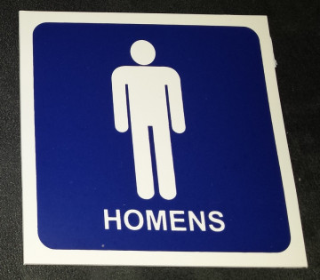 Placa PVC - WC Homens