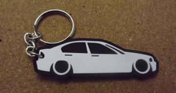 Porta Chaves com silhueta de BMW E46 Limousine - Série 3