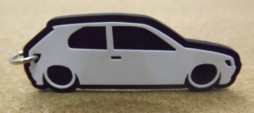 Porta Chaves com silhueta de Peugeot 306