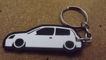 Porta Chaves com silhueta de Renault Clio 2 / MKII