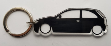 Porta Chaves de Acrílico com silhueta de Opel Corsa C