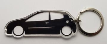 Porta Chaves de Acrílico com silhueta de Renault Clio 3