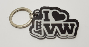 Porta chaves em acrílico com I Love My VW