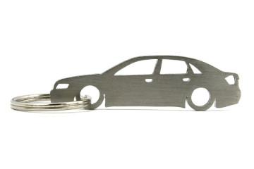 Porta Chaves em inox com silhueta com Audi A4 B6 limousine