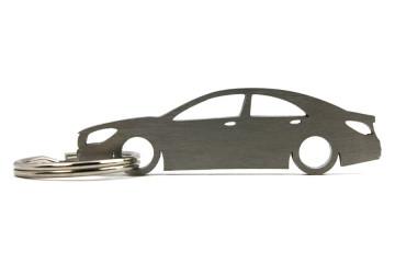 Porta Chaves em inox com silhueta com Mercedes CLA C117