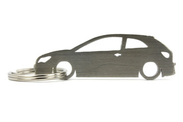 Porta Chaves em inox com silhueta com Seat Ibiza 6J 3P