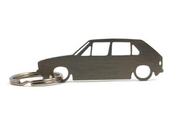 Porta Chaves em inox com silhueta com Volkswagen Golf MK1 5P