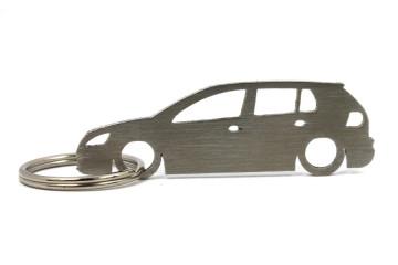 Porta Chaves em inox com silhueta com Volkswagen Golf MK5 5P