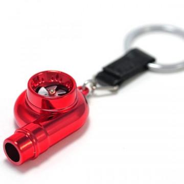 Porta Chaves - Turbo (funcional) - Vermelho Cromado