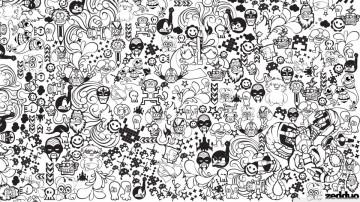 Sticker Bomb - Abstrato 48x26cm