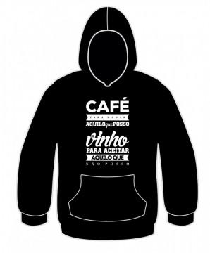 Sweatshirt -  Cafe para mudar / vinho para aceitar