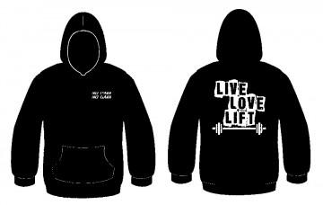Sweatshirt com capuz - Live Love Life