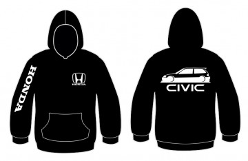 Sweatshirt com capuz para Honda Civic EF