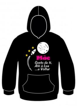 Sweatshirt com Mãe gosto de ti, Até a lua e Voltar