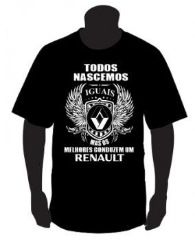 T-shirt com Todos Nascemos Iguais (Renault)