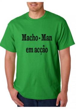 T-shirt  - Macho-Man Em Acção