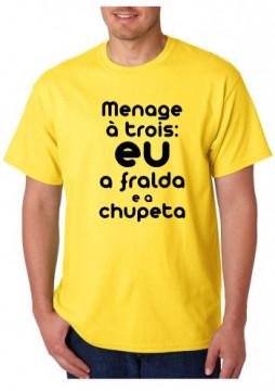 T-shirt  - Menage Á Trois EU A FRALDA E A CHUPETA