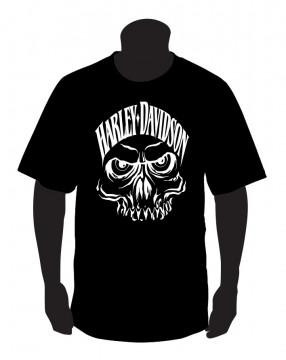 T-shirt para Harley Davison caveira