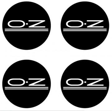 4 Autocolantes Para Centros de Jantes com OZ