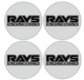 4 Autocolantes Para Centros de Jantes para Rays