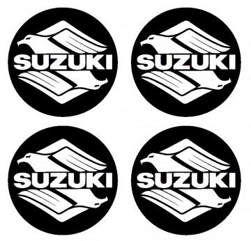 4 Autocolantes Para Centros de Jantes para Suzuki