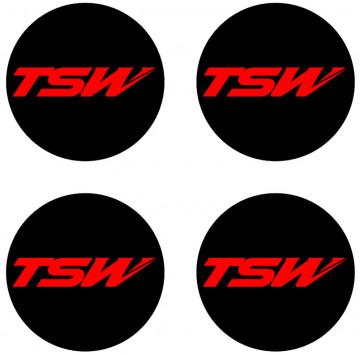 4 Autocolantes Para Centros de Jantes para TSW
