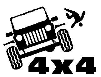 Autocolante - 4x4  cair