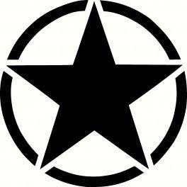 Autocolante - Army Star
