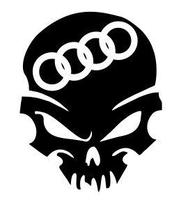 Autocolante - Audi Caveira