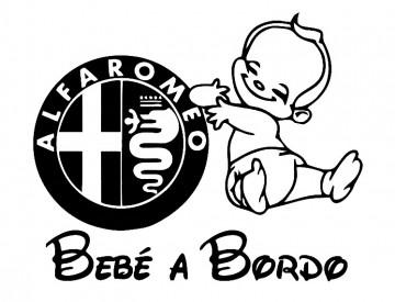 Autocolante - Bebé a bordo para  Alfa Romeo