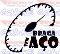 Autocolante - Braga tem aço