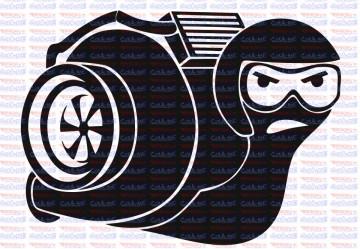 Autocolante - Caracol Turbo