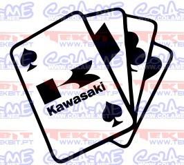 Autocolante- Cartas Kawasaki