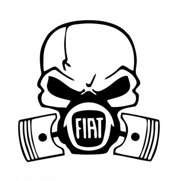 Autocolante com Caveira Pistões Fiat