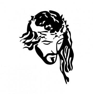 Autocolante com Jesus Cristo