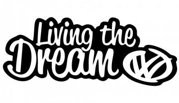 Autocolante com Living the dream VW