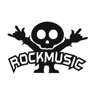 Autocolante com Rock music