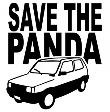 Autocolante com Save the Panda