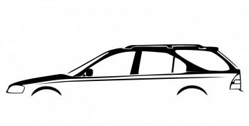 Autocolante com silhueta Honda Civic Aerodeck carrinha