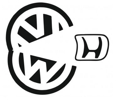 Autocolante com VW Pacman