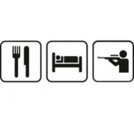 Autocolante - Comer Dormir Caçar