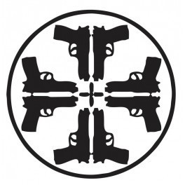 Autocolante - Cruz Pistolas