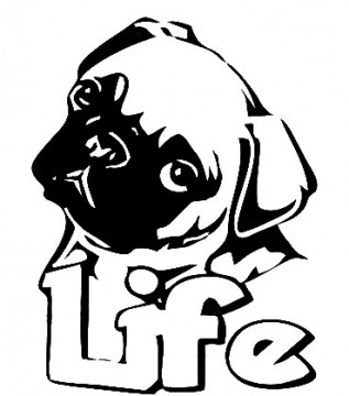 Autocolante - Dog Life - Vida de Cão