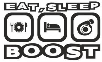 Autocolante - Eat Sleep Boost