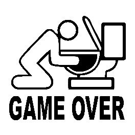 Autocolante - Game Over
