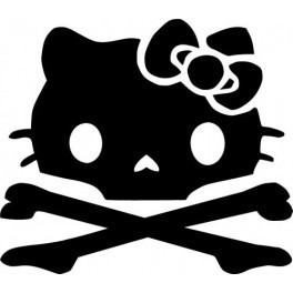 Autocolante - Hello Kitty Caveira