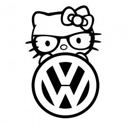 Autocolante - Hello Kitty VW