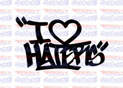 Autocolante - I Love Haters