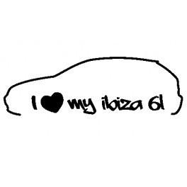 Autocolante - I Love my Ibiza 6L