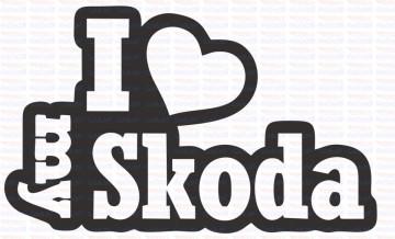 Autocolante - I Love My Skoda